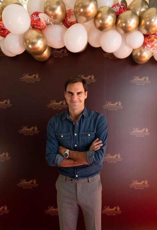 Roger Federer at Lindt O2